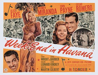 Week-end In Havana, Cesar Romero Poster by Everett