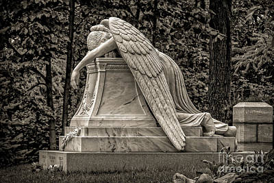 Weeping Angel - Sepia Poster