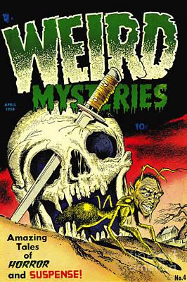 Weird Mysteries 1950s Horror Comic Book Poster