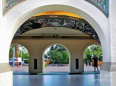 Welcome Archways By Kaye Menner Poster by Kaye Menner