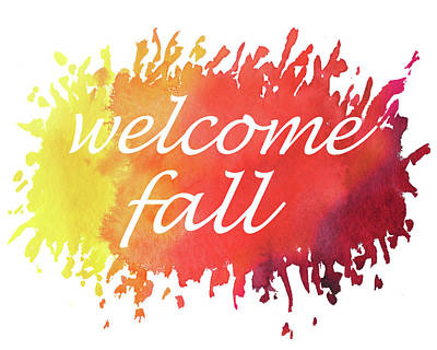 Welcome Fall Watercolor Poster