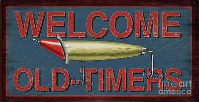 Welcome Fishing Sign Poster