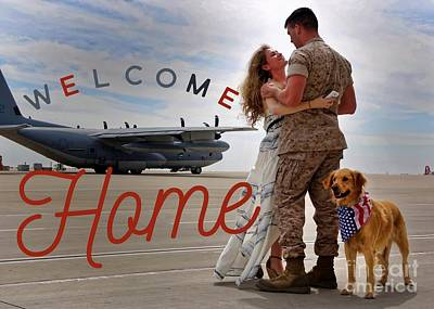 Poster featuring the digital art Welcome Home by Kathy Tarochione