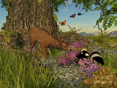 Poster featuring the digital art Welcome Spring by Methune Hively