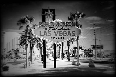 Welcome To Las Vegas Series Holga Infrared Poster by Ricky Barnard