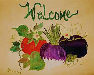 Welcome To My Kitchen Poster by Alanna Hug-McAnnally