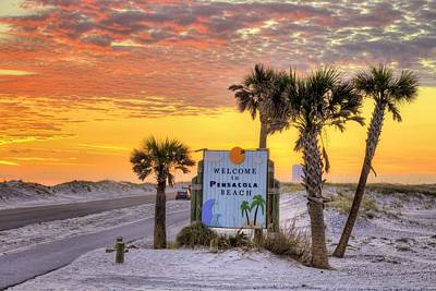 Welcome To Pensacola Beach And Its Gorgeous Sunsets Poster by JC Findley