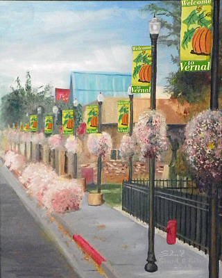 Poster featuring the painting Welcome To Vernal by Sherril Porter