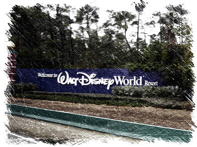 Welcome To Walt Disney World Resort Signage Poster