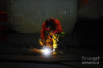 Welder At Work Poster by Nishanth Gopinathan