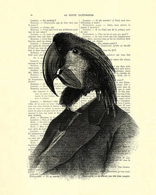 Well Dressed Cockatoo Bird Poster