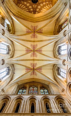 Wells Cathedral Ceiling Poster