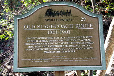 Wells Fargo Stage Coach Sign Poster