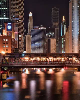 Wells Street Bridge Poster by Frozen in Time Fine Art Photography