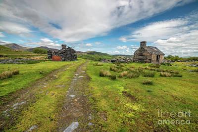 Welsh Cottage Ruins Poster