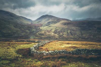 Welsh Mountainous Farmland Poster