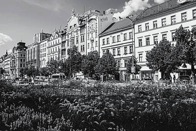 Poster featuring the photograph Wenceslas Square In Prague by Jenny Rainbow