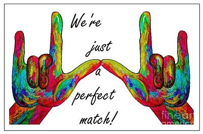 We're Just A Perfect Match Poster