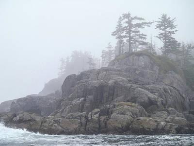 West Coast Landscape Ocean Fog I Poster