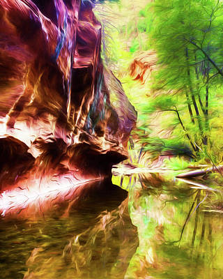 West Fork Of Oak Creek Canyon Poster