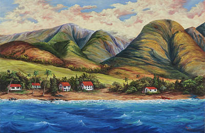 Poster featuring the painting West Maui Living by Darice Machel McGuire