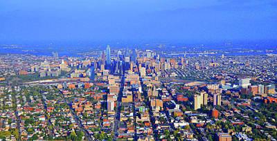 West Philadelphia Center City Skyline Poster by Duncan Pearson