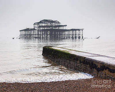 West Pier At Brighton Poster by Colin and Linda McKie