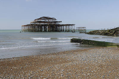 West Pier Poster by Nichola Denny