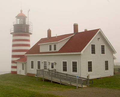 West Quoddy In Fog Poster