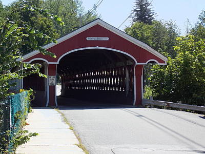 West Swanzey Covered Bridge Poster by Catherine Gagne