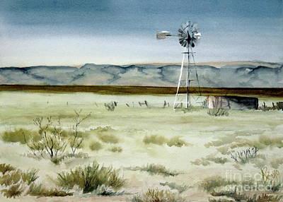 West Texas Windmill Poster by Karen Boudreaux