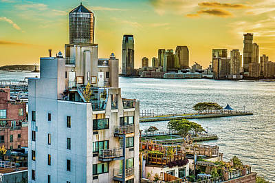 Poster featuring the photograph West Village To Jersey City Sunset by Chris Lord