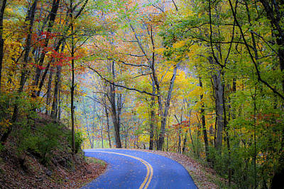 West Virginia Country Road Poster by Teresa Mucha