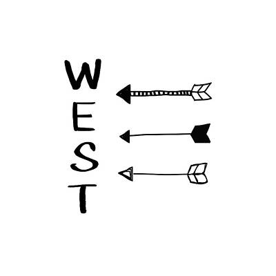 West With Arrows- Art By Linda Woods Poster