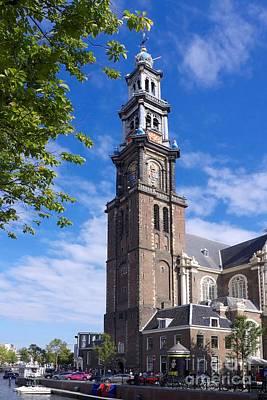 Westerkerk Tower And Church. Amsterdam. Netherlands. Europe Poster by Bernard Jaubert