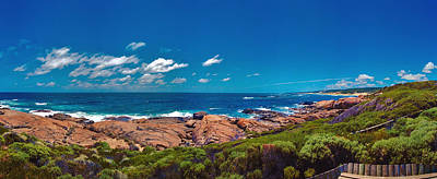 Poster featuring the photograph Western Australia Beach Panorama Margaret River by David Zanzinger