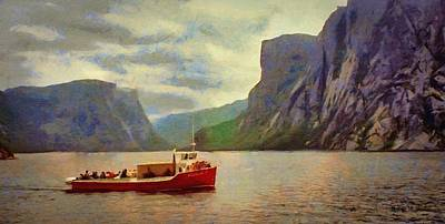 Poster featuring the painting Western Brook Pond by Jeff Kolker