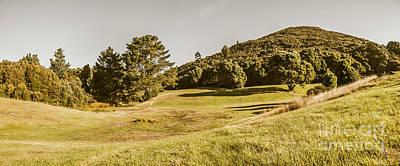 Western Tasmania Grassland Panorama Poster
