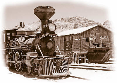Western Train Poster by Richard Allen