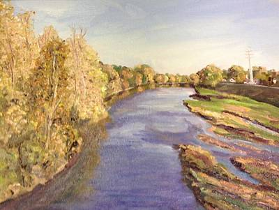 Westfield River- View From Bridge Poster by Richard Nowak