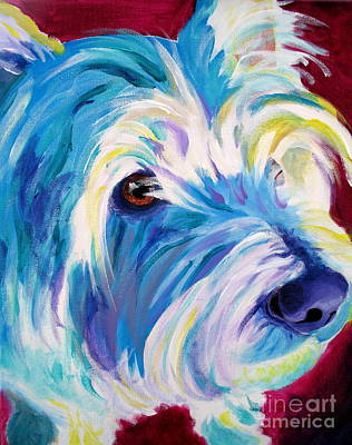 Westie - That Look Poster by Alicia VanNoy Call