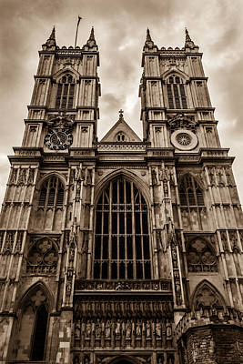 Westminister Abbey Sepia Poster
