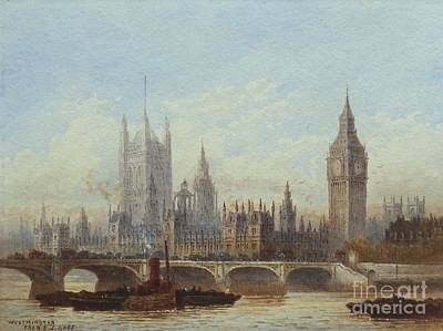 Westminster And Westminster Bridge Poster by MotionAge Designs