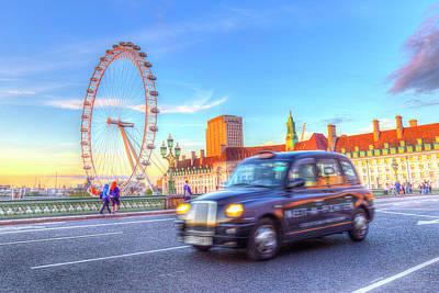Westminster Bridge And The London Eye Poster by David Pyatt