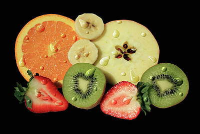 Poster featuring the photograph Wet Fruit by Shane Bechler
