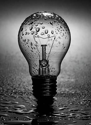 Wet Light Bulb Poster