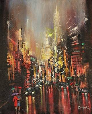Wet Streets Poster by Tom Shropshire
