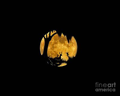 Wetland Wildlife Massive Moon .png Poster by Al Powell Photography USA