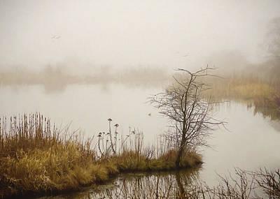 Poster featuring the painting Wetland Wonders Of Winter by Jordan Blackstone