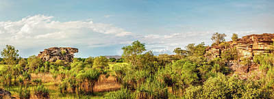 Wetlands And Escarpment Panorama In Kakadu National Park -northe Poster by Daniela Constantinescu